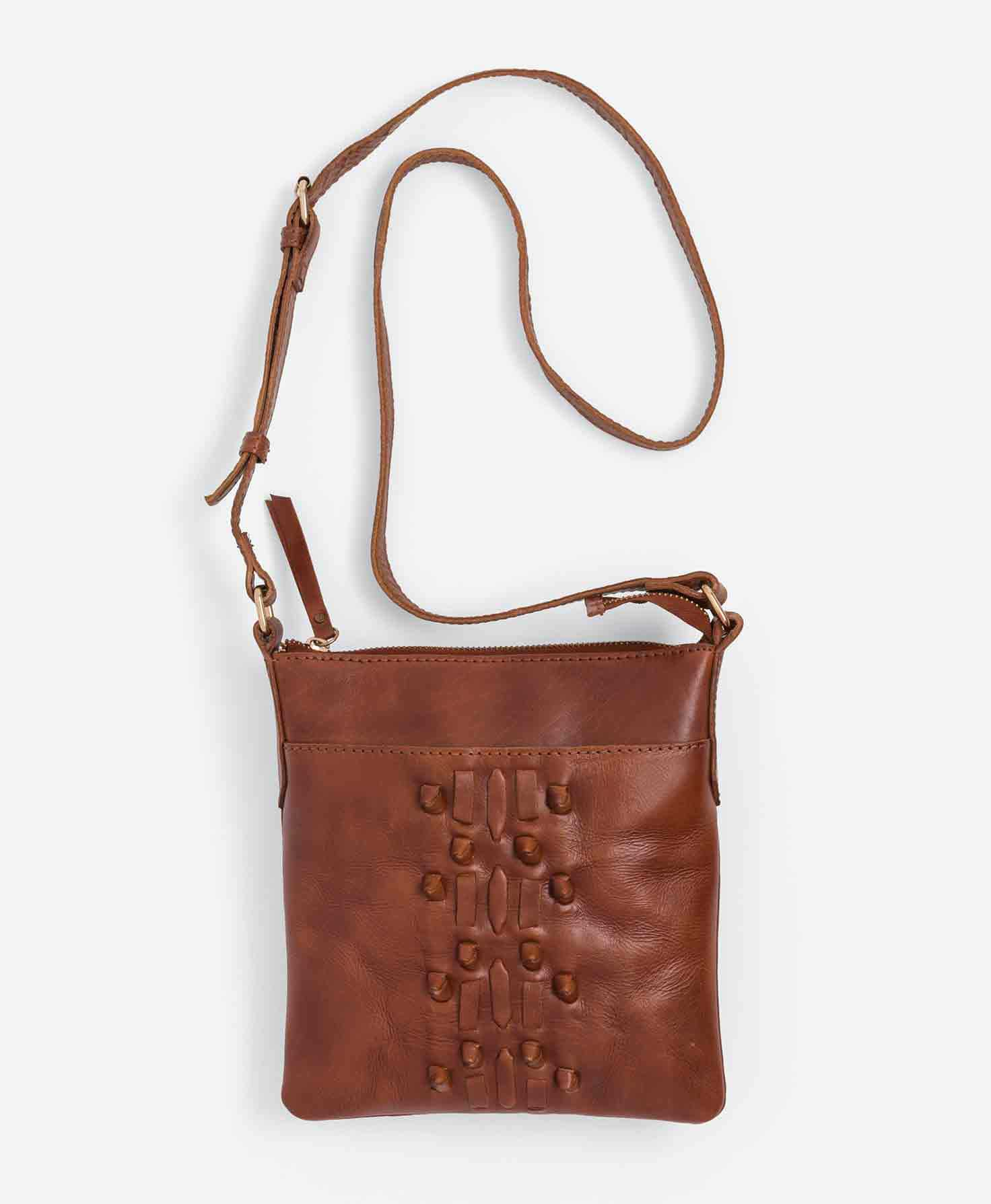 54f634dba3 Indus Leather Crossbody  Say HELLO to your teen s new favorite purse. This  versatile leather bag has a strap that can be lengthened or shortened.